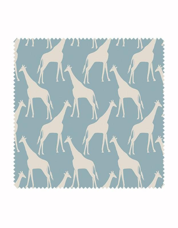 Gerald Giraffe Wallpaper in Sky Blue & Stone - Aurina Ltd