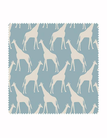 Gerald Giraffe Wallpaper in Sky Blue & Stone