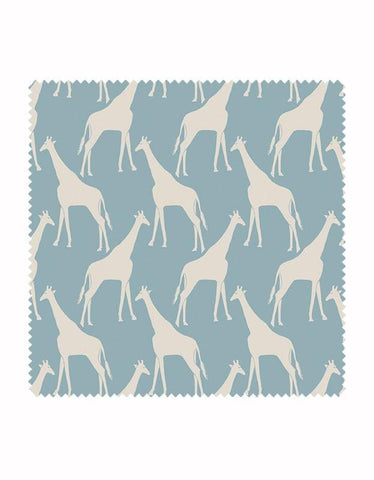 Gerald Giraffe Fabric in Sky Blue & Stone