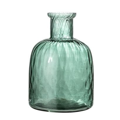Green Glass Vase - Aurina Ltd