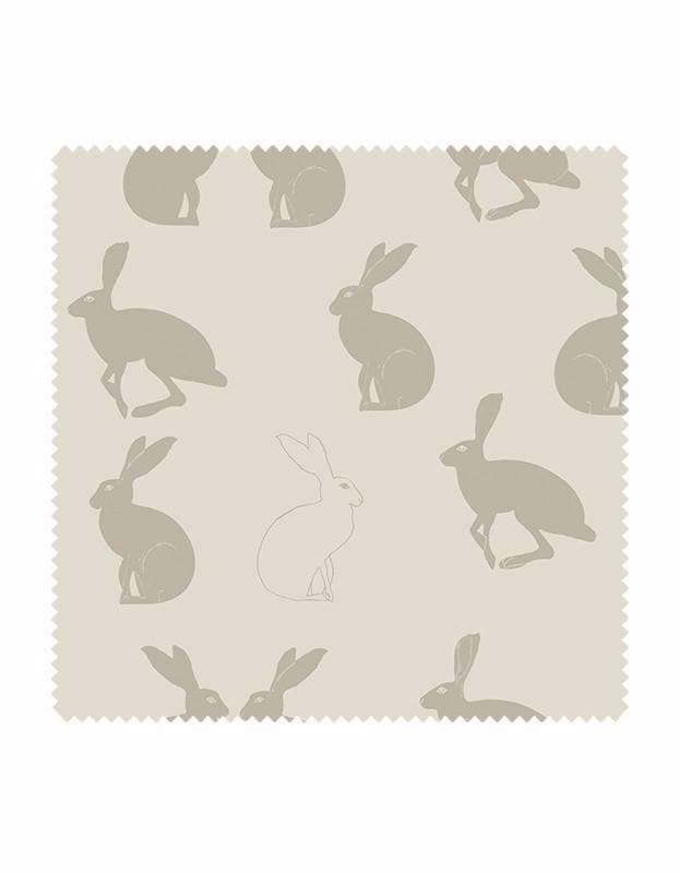 Hetty Hare Wallpaper Linen & Stone