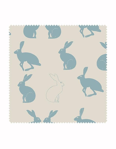 Hetty Hare Fabric in Sky Blue