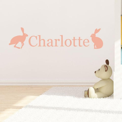 Hetty Hare Personalised Wall Sticker