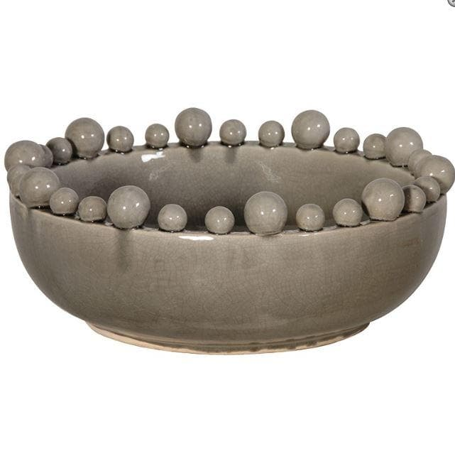 Grey Ceramic bowl with balls - Aurina Ltd