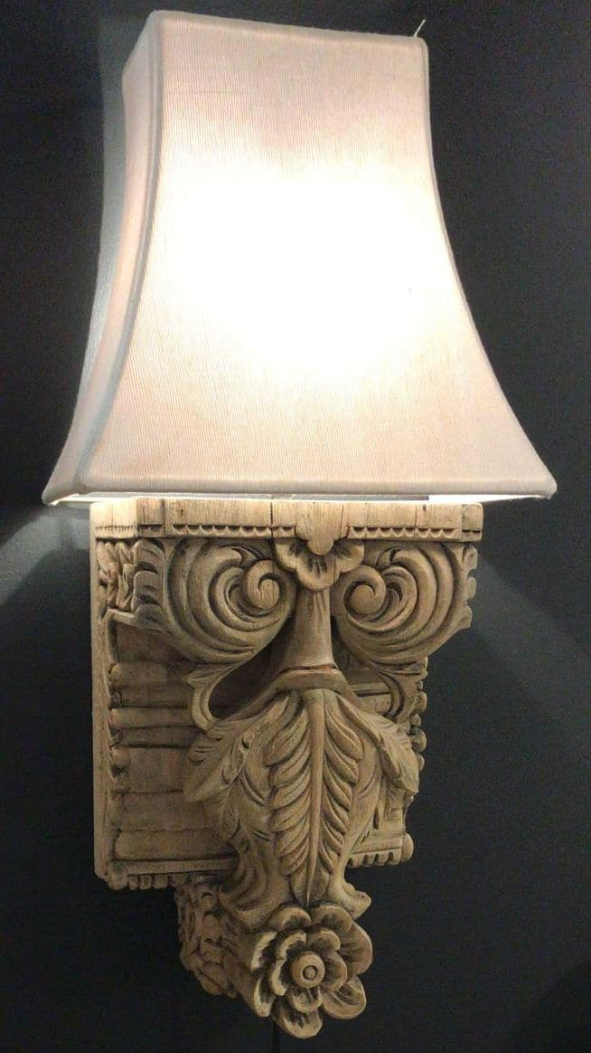 Carved Wall Light - Aurina Ltd
