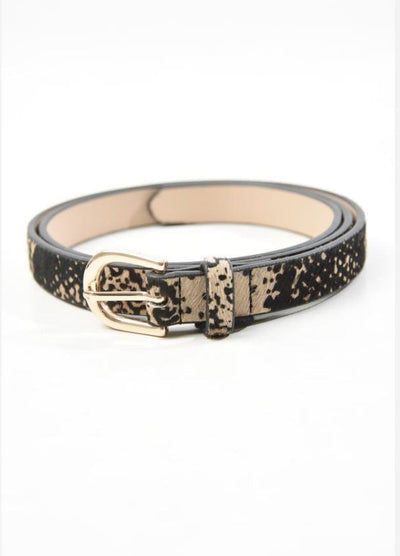 Animal Print Cow Hide Leather Belt -  - aurina-ltd-2