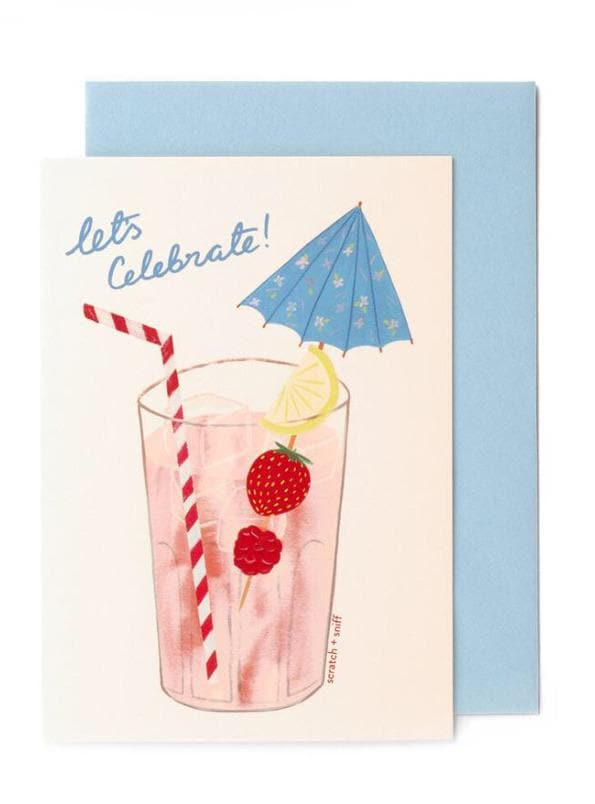 Scratch & Sniff Fruity Cocktail Card - Aurina Ltd