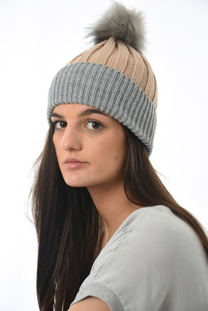 Fur Pom Pom Hat - Aurina Ltd