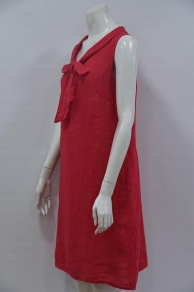 Tie Neck Linen Dress