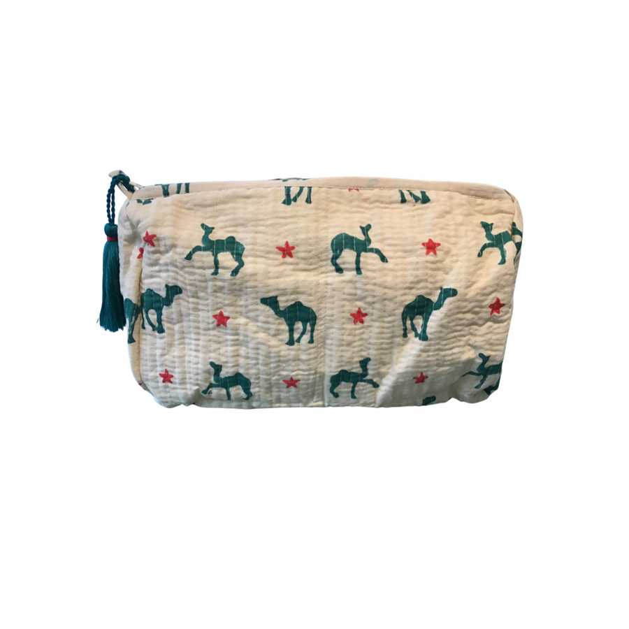 Large Quilted Meredith Pouch - Aurina Ltd