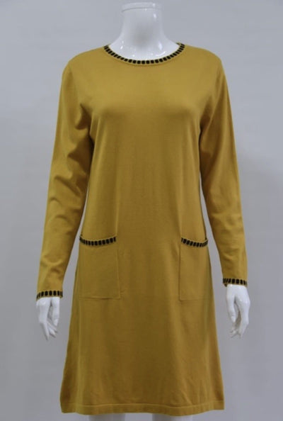 Two Pocket Knitted Dress - Aurina Ltd