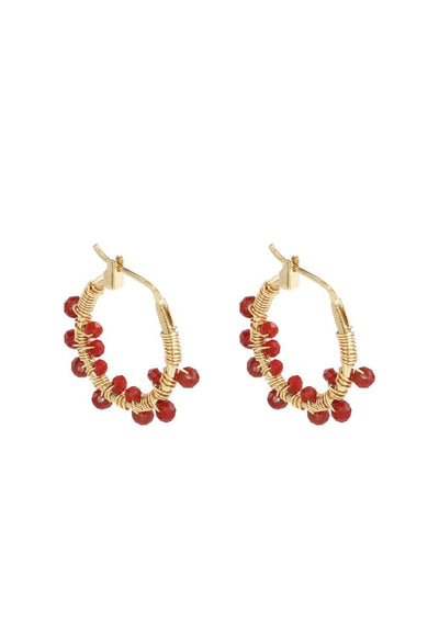 Colourful Crystal Bead Earrings - Aurina Ltd