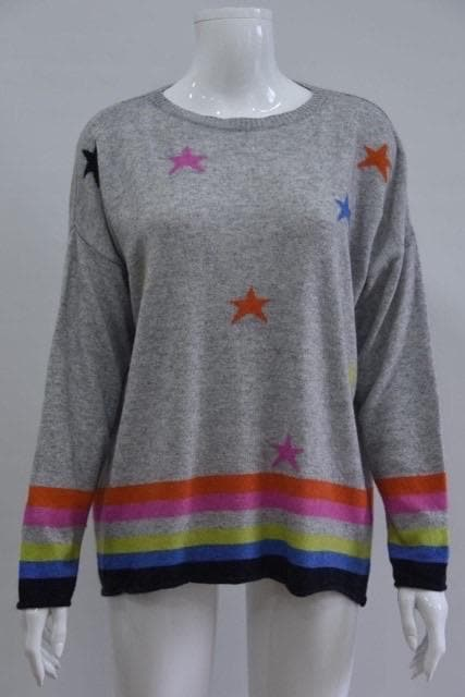 Rainbows and Stripes Cashmere Blend Jumper