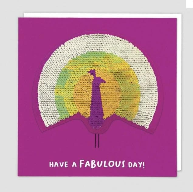 Sequin Card Have a Fabulous Day