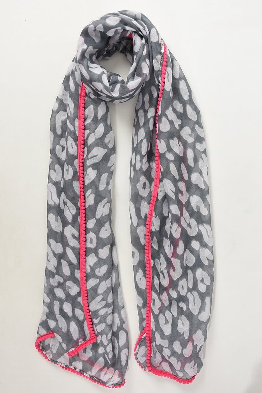 Abstract Animal and Neon Scarf - Aurina Ltd