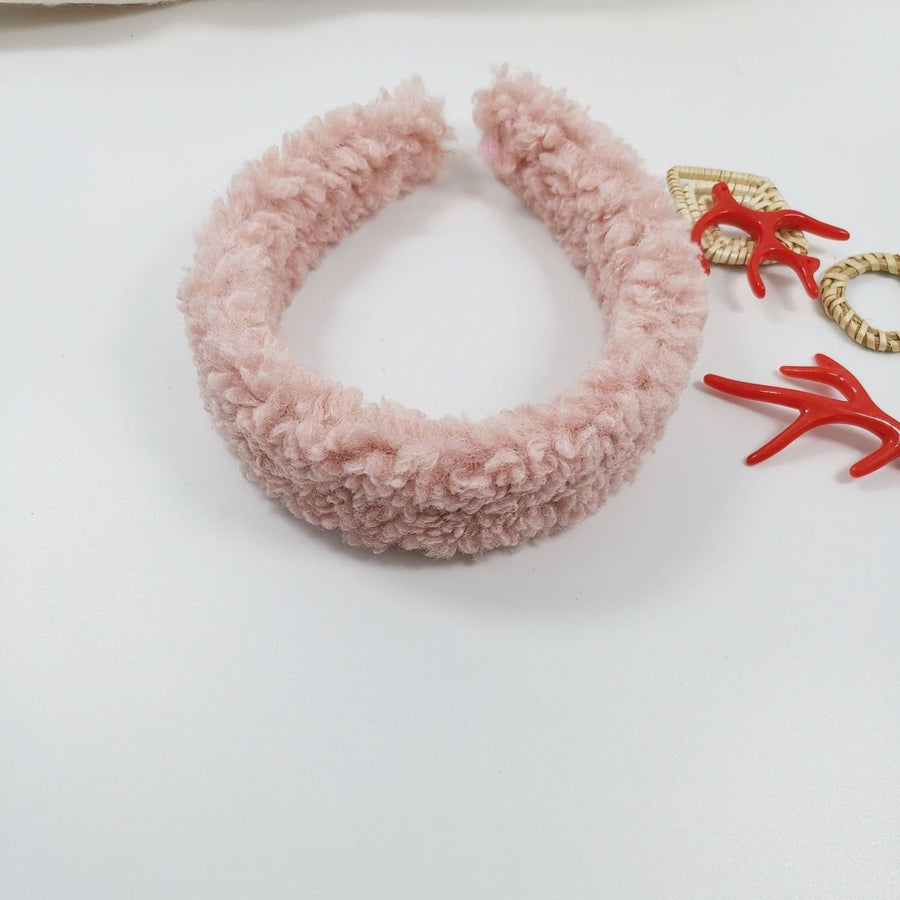 Dusky Pink Teddy Headband - Aurina Ltd