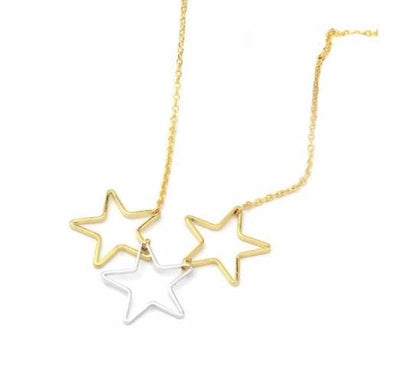 3 Star Necklace Gold & Silver