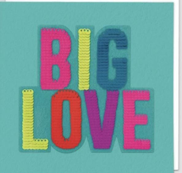 Sequin Card Big Love - Aurina Ltd