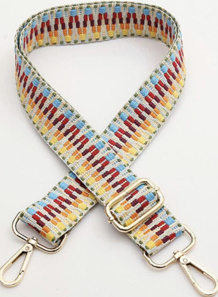 Multi colour Aztec Bag Strap - Aurina Ltd