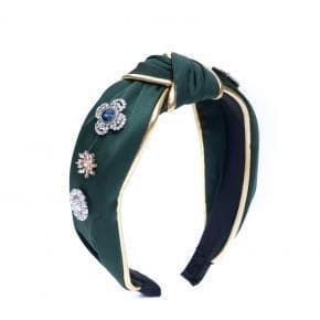 Satin & Gold Headband - Aurina Ltd