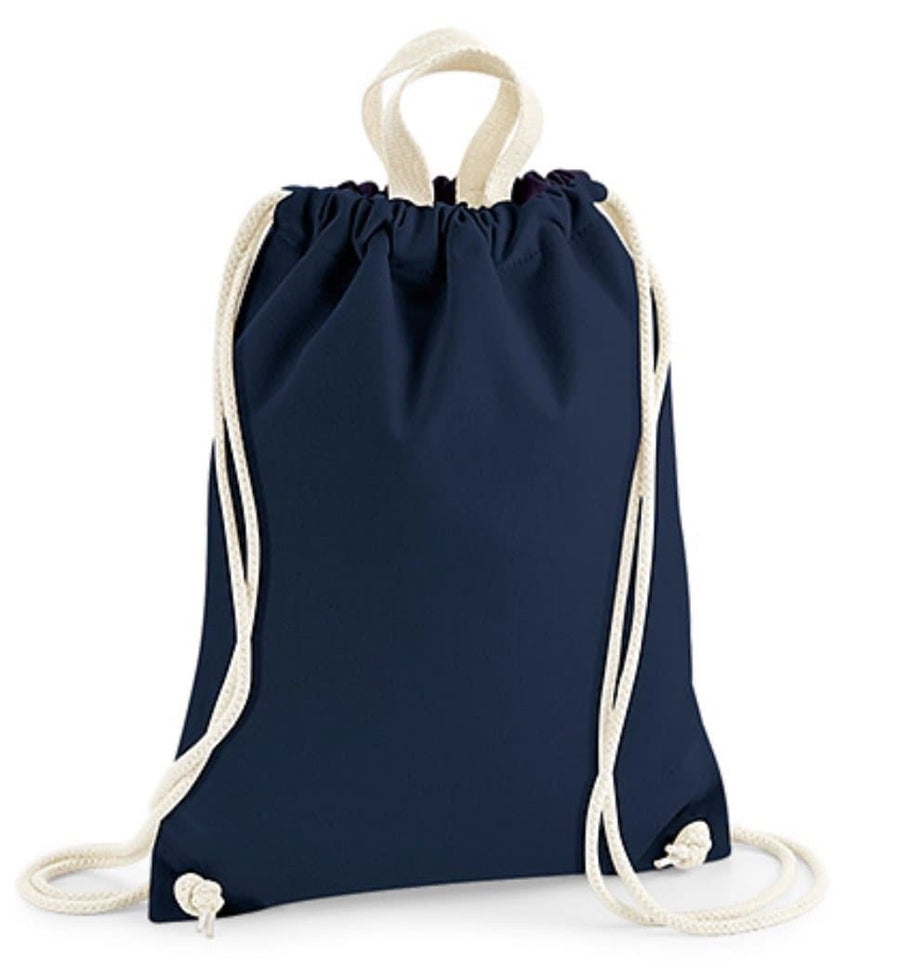 Nautical Stripe Drawstring Bag with personalisation