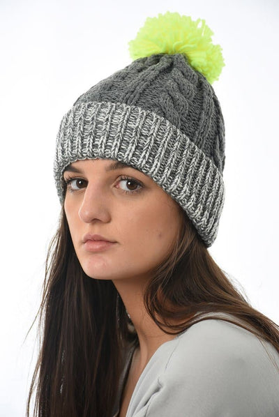 Colour Pop Pom Pom hat - Aurina Ltd