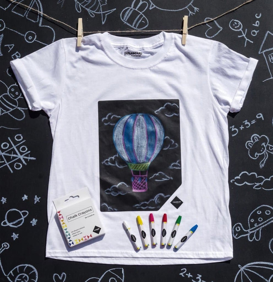 Kids Chalkboard T-shirt - Design Your Own T-shirt - Aurina Ltd