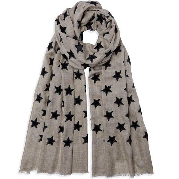 Cashmere and Velvet Star Scarf - Aurina Ltd