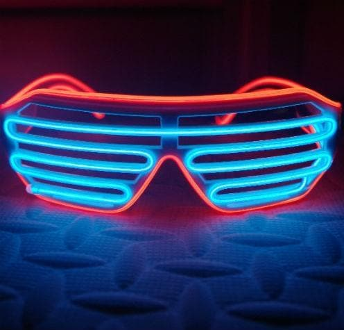 LED Light Up Glasses Blue/Red Trim - Aurina Ltd
