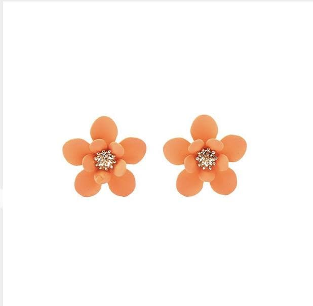 Apricot Flower Stud - Aurina Ltd