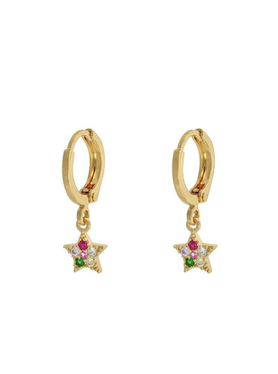 Wiveton Multi Sparkle Star Earring - Aurina Ltd