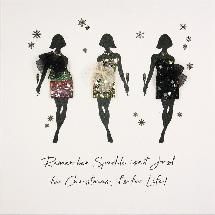 Remember sparkle isn't just for Christmas Christmas Card - Aurina Ltd