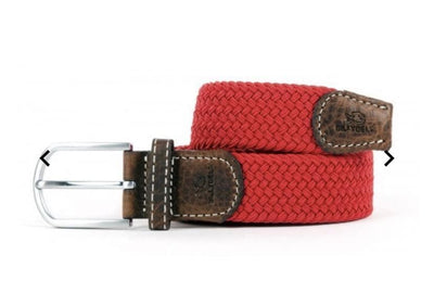 Pomegranate Red Woven Belt - Aurina Ltd