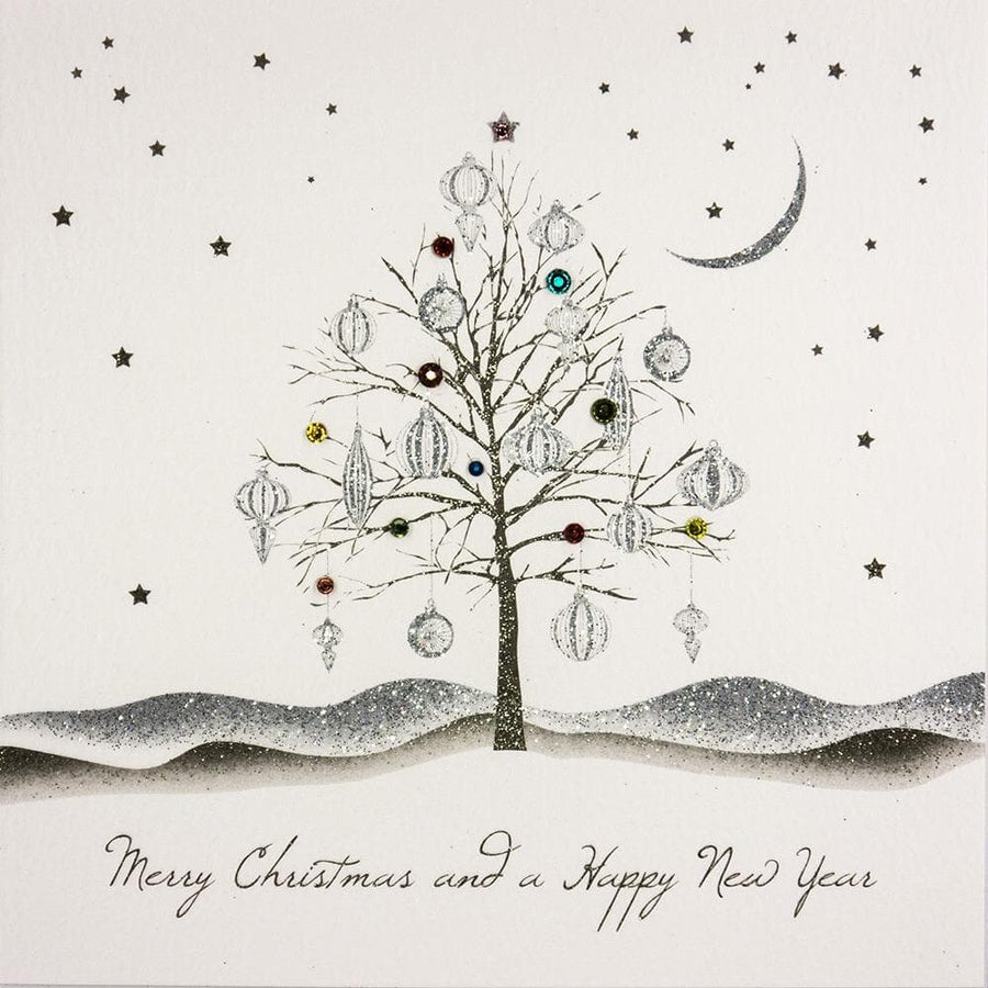 Merry Christmas Tree Christmas Card - Aurina Ltd