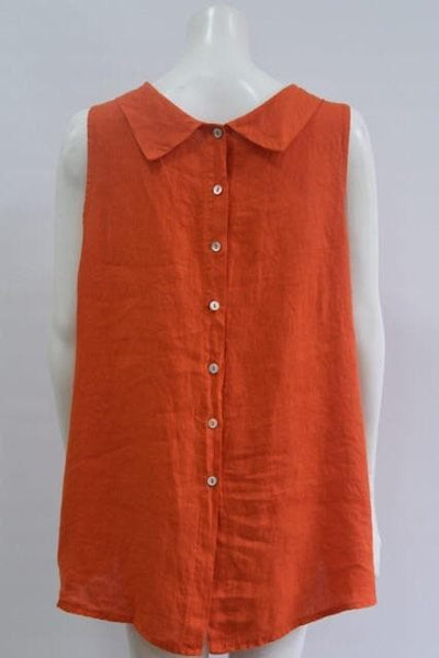 Button Back Linen Top