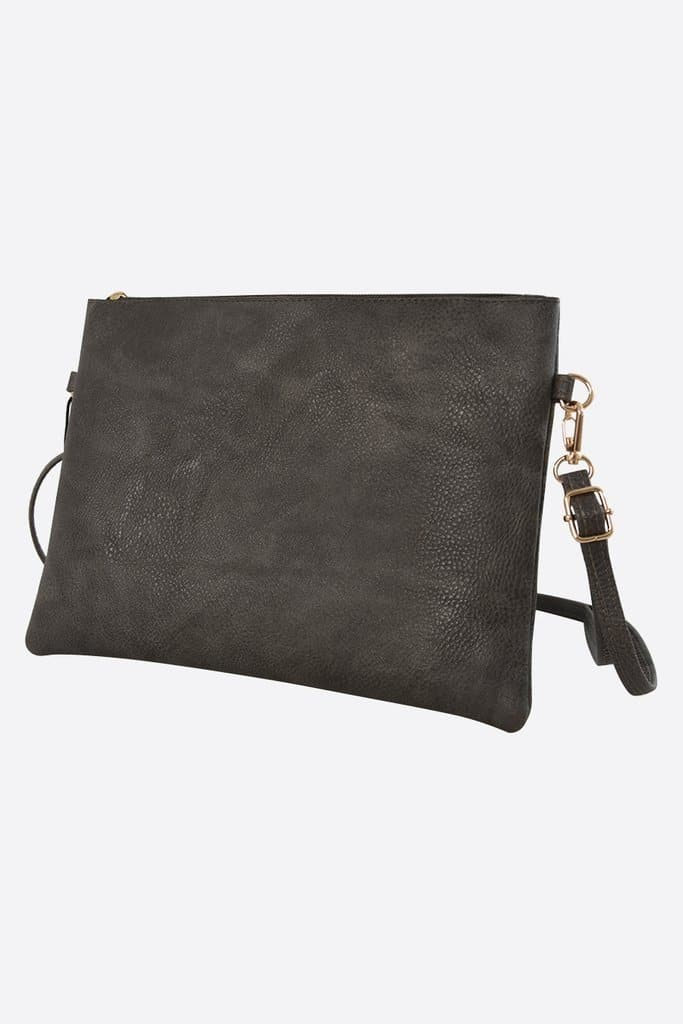Dark Grey Clutch - Aurina Ltd