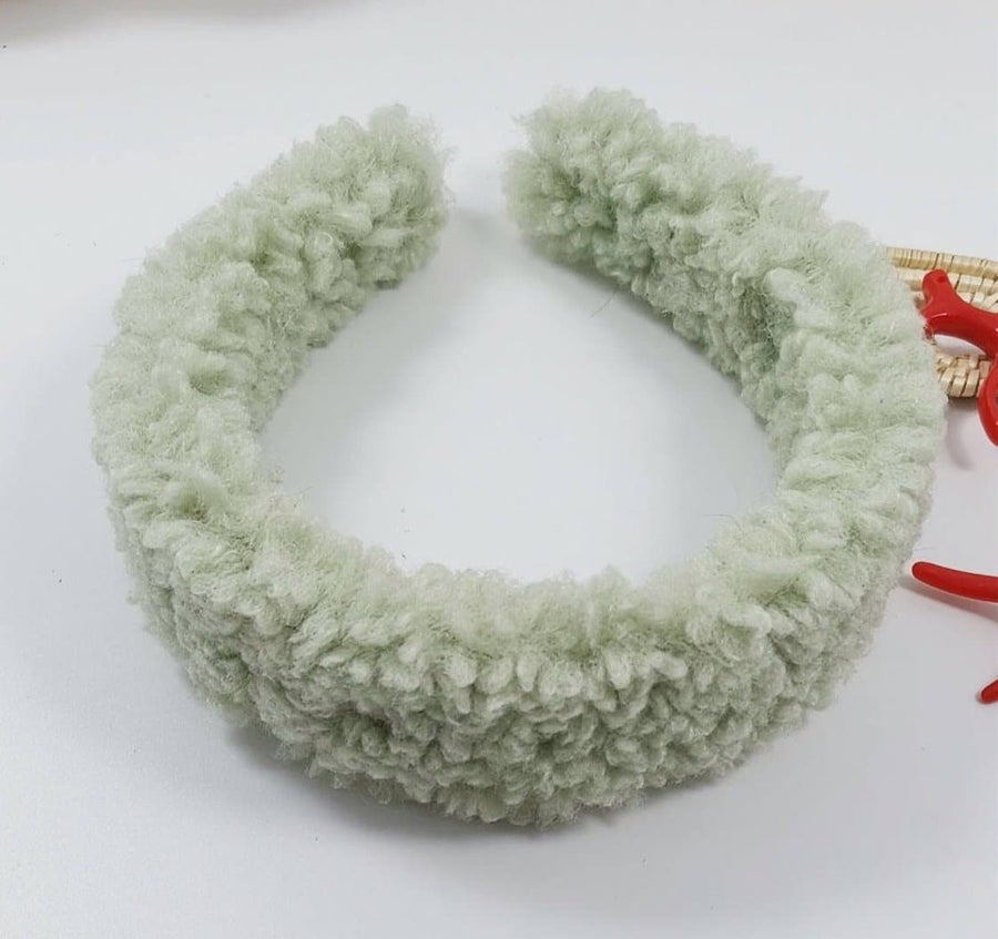 Sage Green Teddy Headband - Aurina Ltd