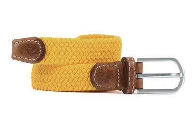 Saffron Yellow Women's Woven Belt - Aurina Ltd