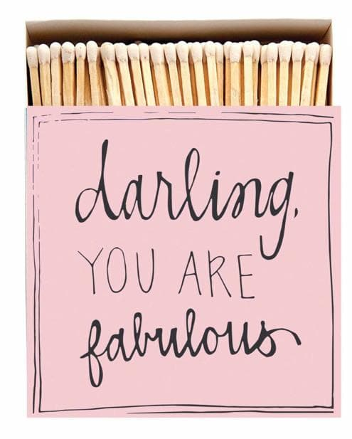 Darling You are Fabulous Luxury Matches - Aurina Ltd