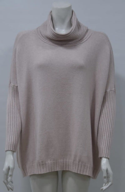 Soft roll neck jumper
