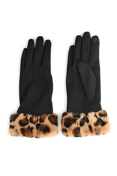 Suedette & Faux Fur Gloves -  - aurina-ltd-2