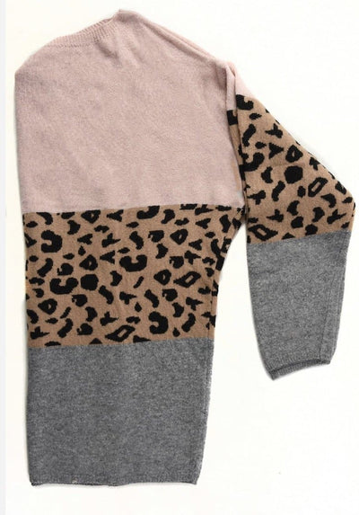 Block Cashmere Blend Grey & Dusty Pink -  - aurina-ltd-2