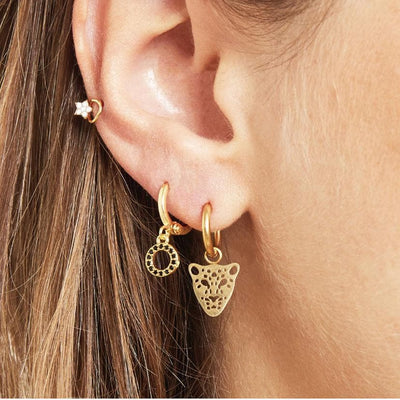 Panther Dream Earrings Gold - Aurina Ltd