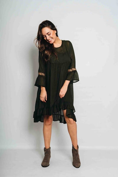 Embroidered Boho Dress - Aurina Ltd