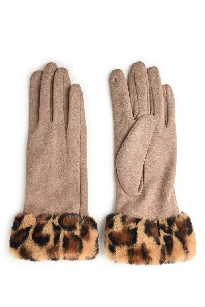 Suedette & Faux Fur Gloves - Aurina Ltd