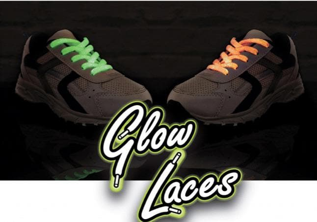 Glow in the dark laces - Aurina Ltd