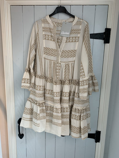 Boho Aztec Dress Short - Aurina Ltd