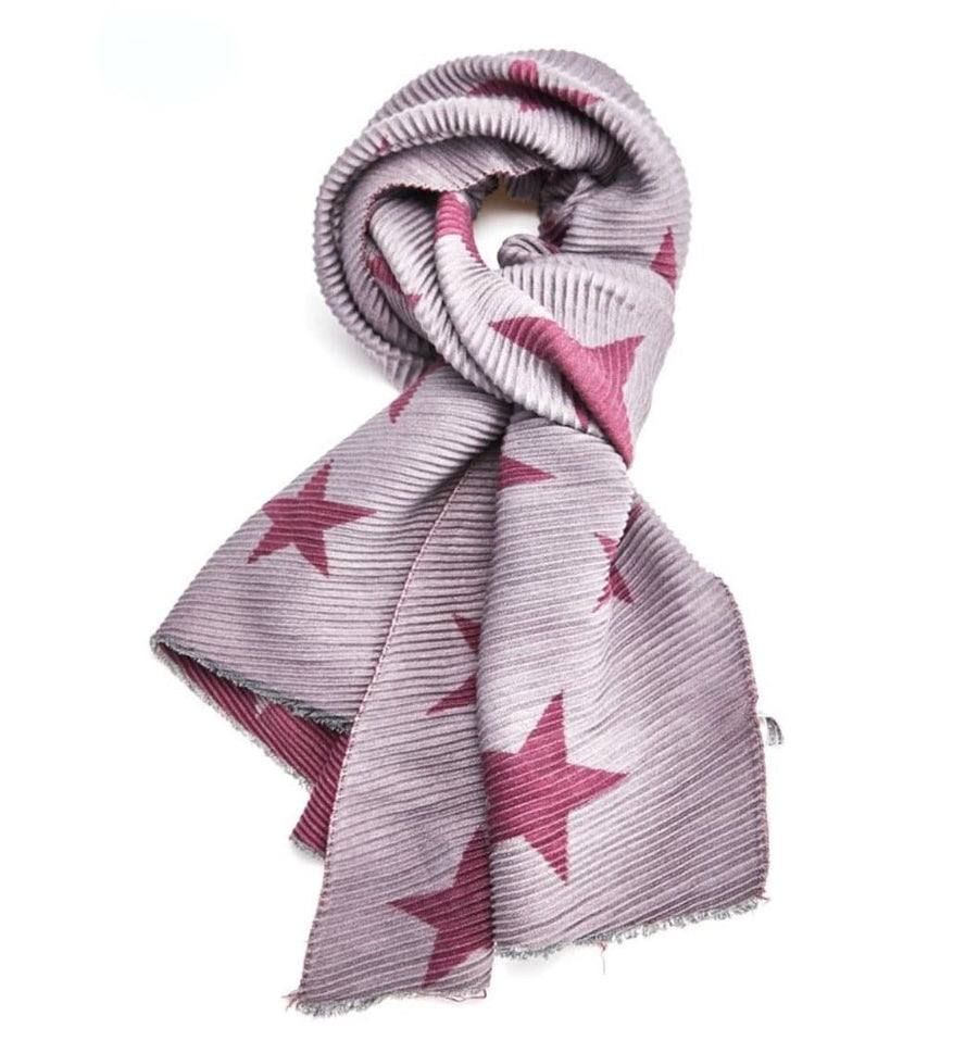 Aurina Pleated Stars Scarf - Aurina Ltd