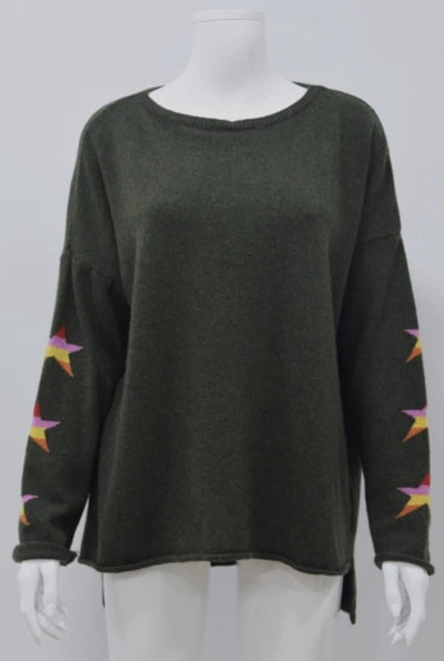 Three Star Cashmere Blend Jumper - Aurina Ltd