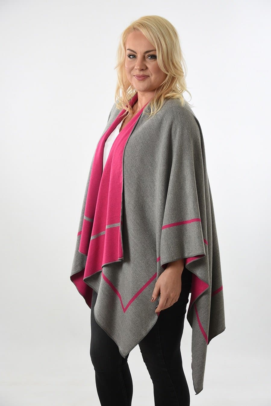 Reversible Stripe Wrap - Aurina Ltd